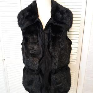 RLZ faux fur vest jacket sz small